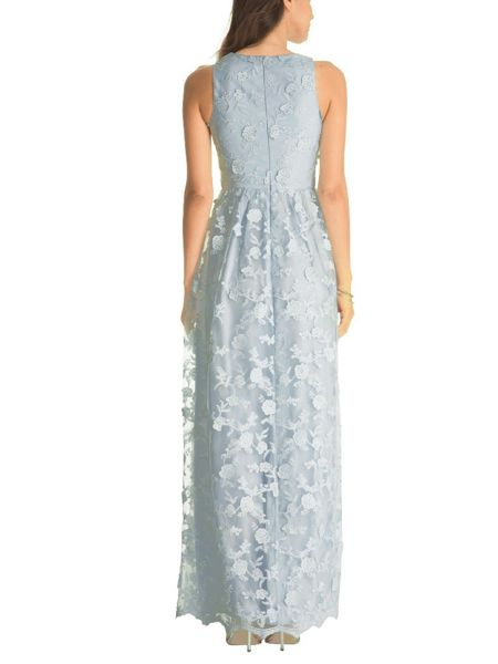 Chi Chi London All Over Floral Embroidered Maxi Dress