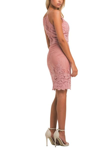 Chi Chi London Embroidered Bodycon Dress