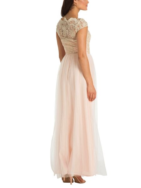 Chi Chi London Cap Sleeve Embroidered Maxi Dress