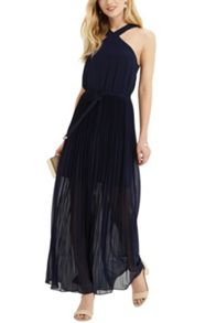 Oasis Lucinda Hanky Hem Pleated Dress