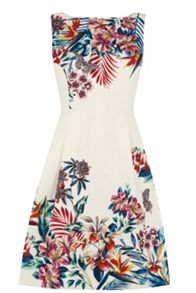 Oasis Tropical House Jacquard Dress