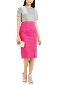 Oasis Textured Wrap Pencil Skirt