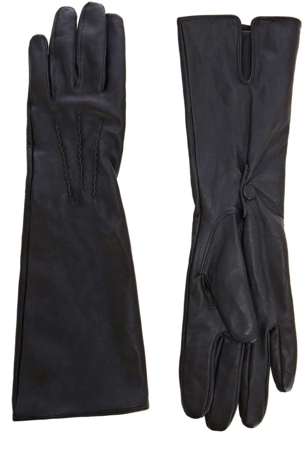 Longer length leather glove