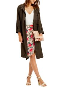 Oasis Topical Drape Front Skirt