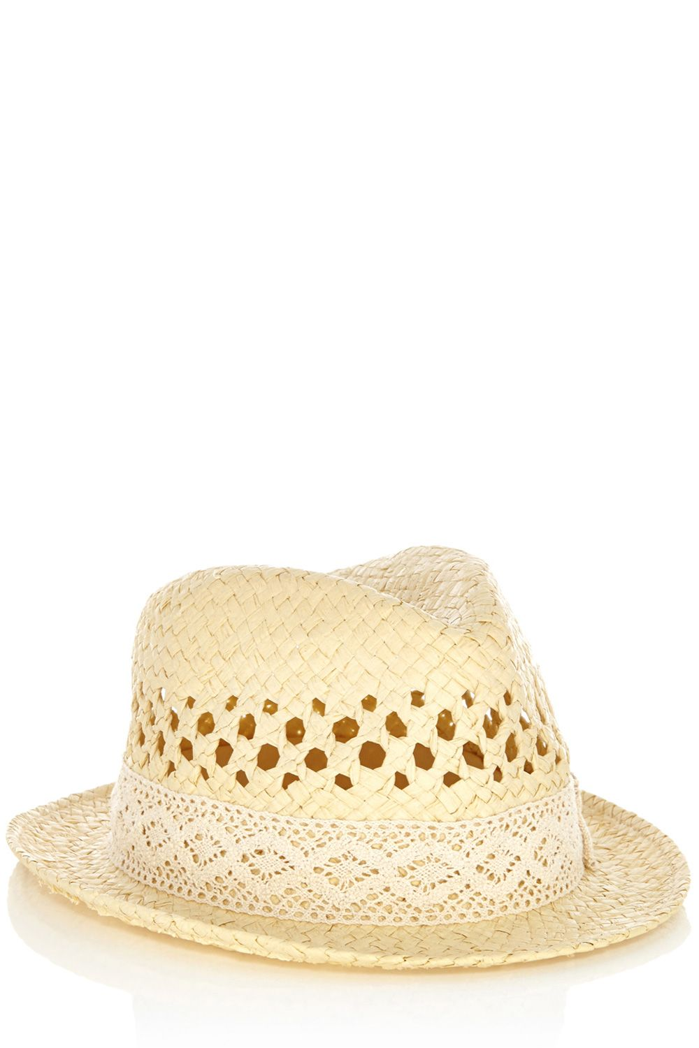 Lace trim trilby