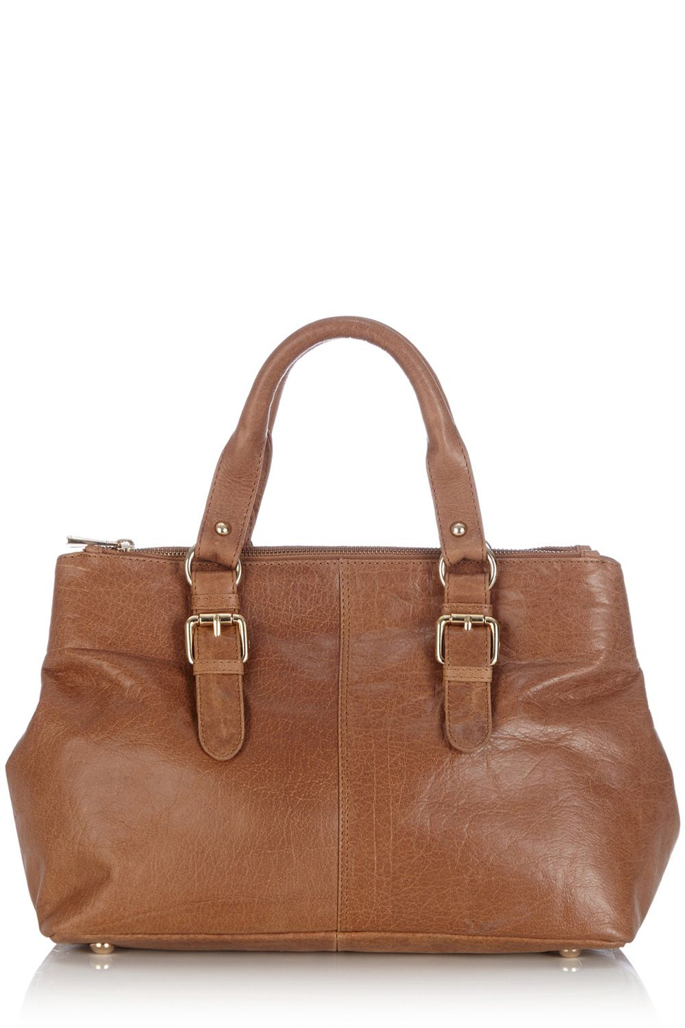 Leather triple compartment bag