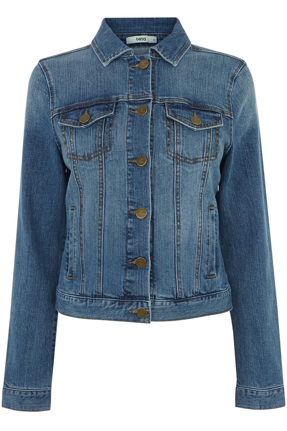 Carly mid wash denim jacket