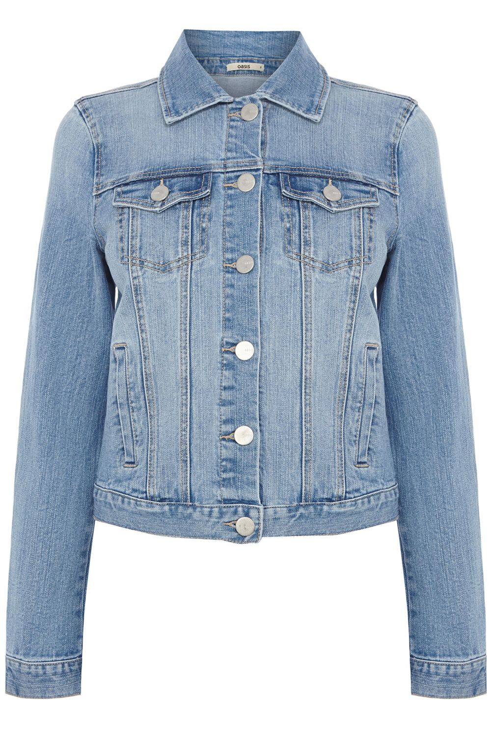 Carly pale wash denim jacket