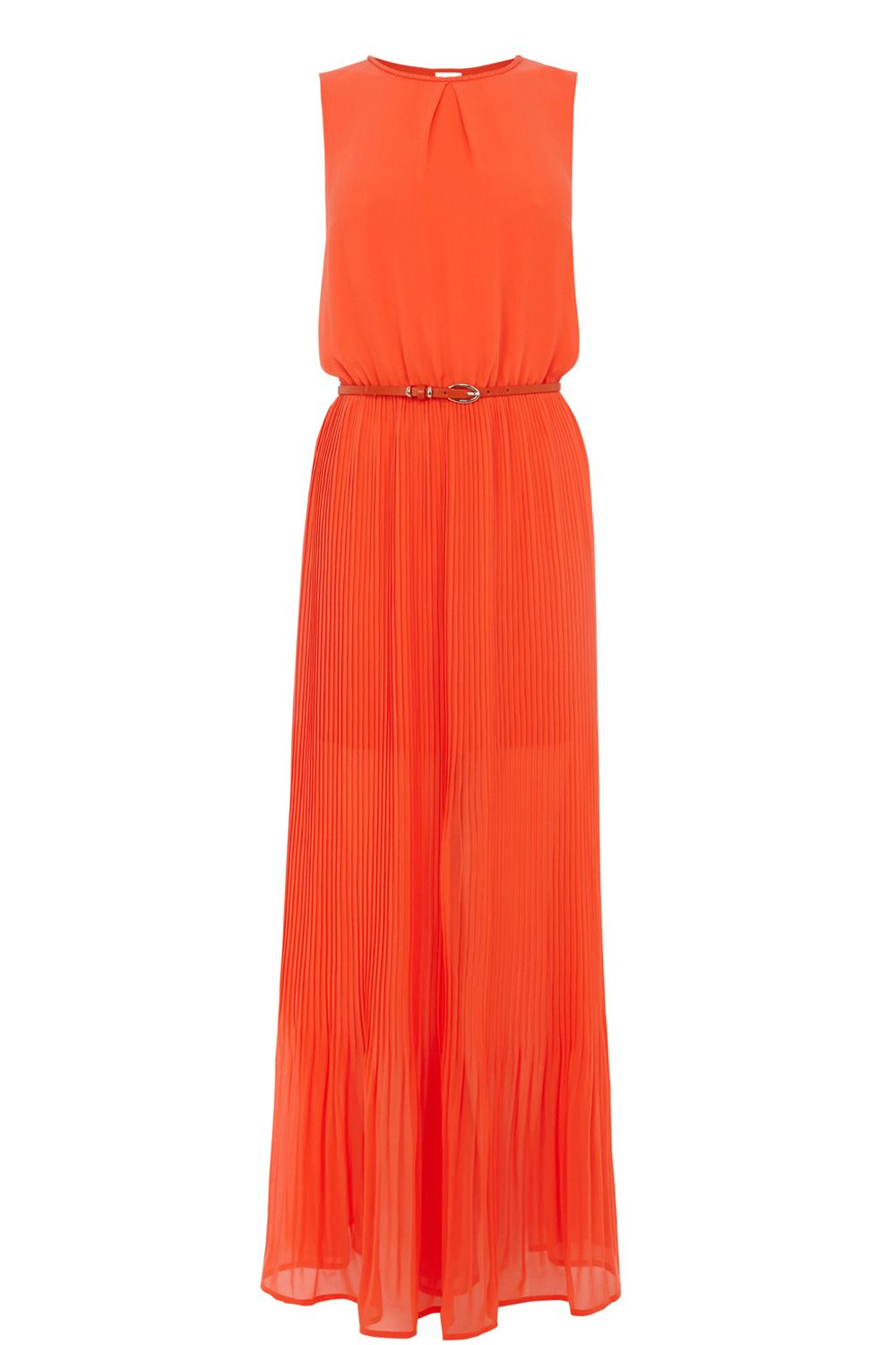Plait neck pleat maxi