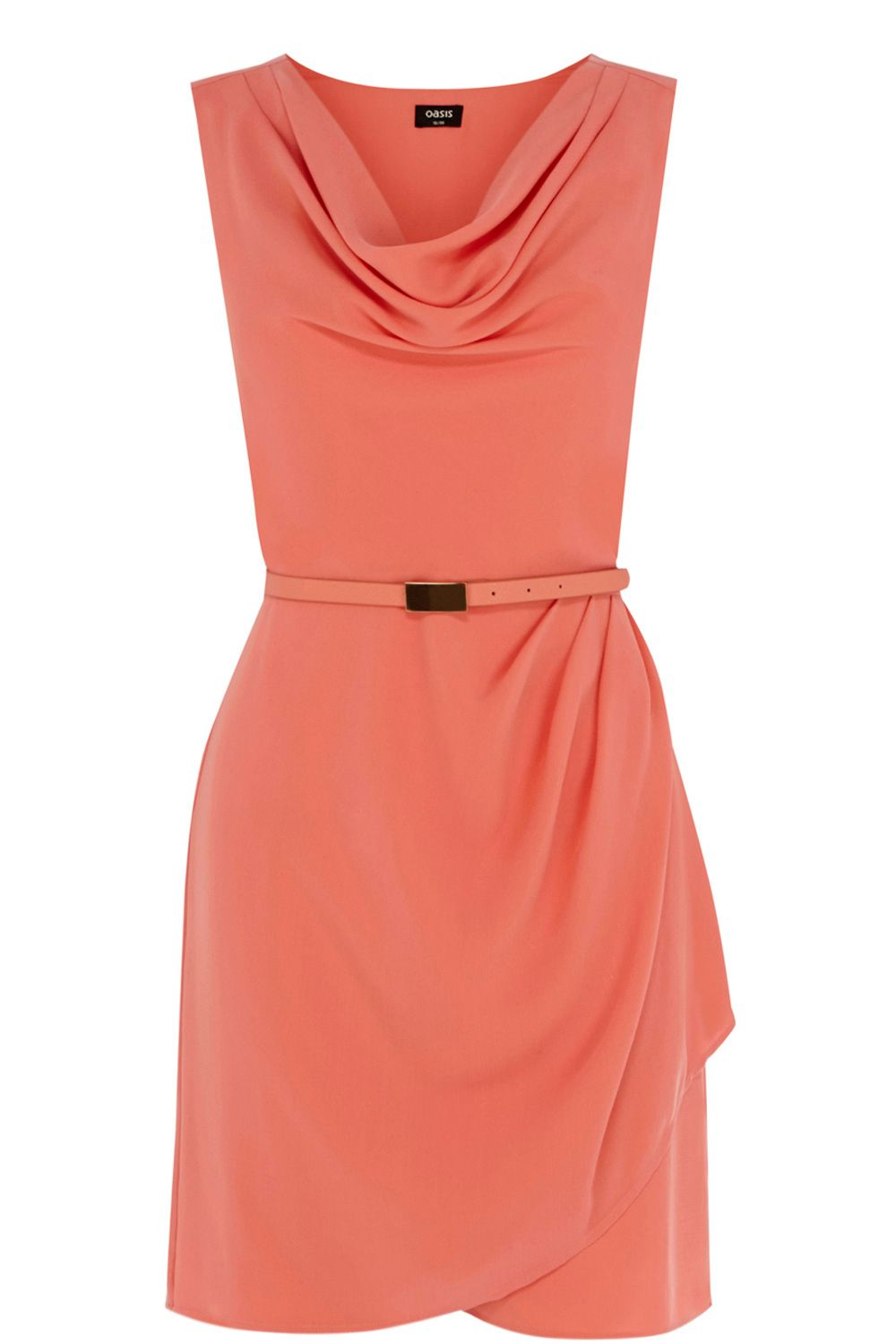 Lola cowl crepe shift dress