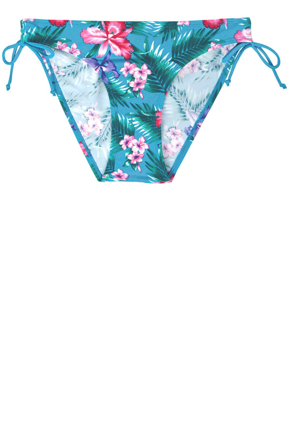 Tropical fern print bikini bottoms