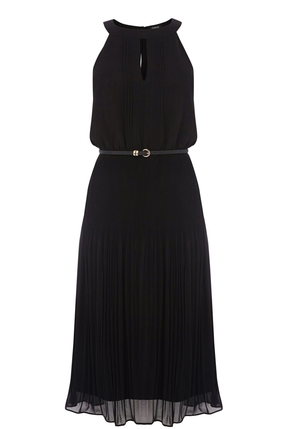 Chiffon pleated midi dress