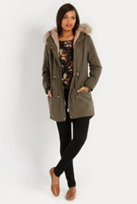 Oasis Bella fur lined parka
