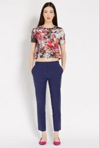 Summer jacquard trousers
