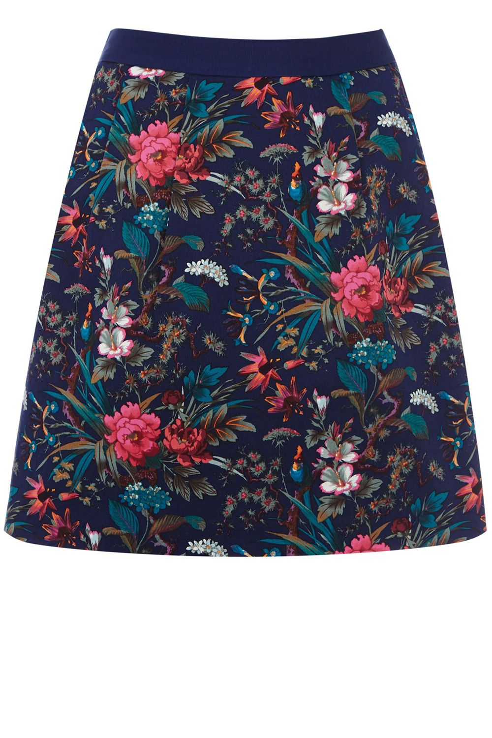 Tropical forest patched skirt