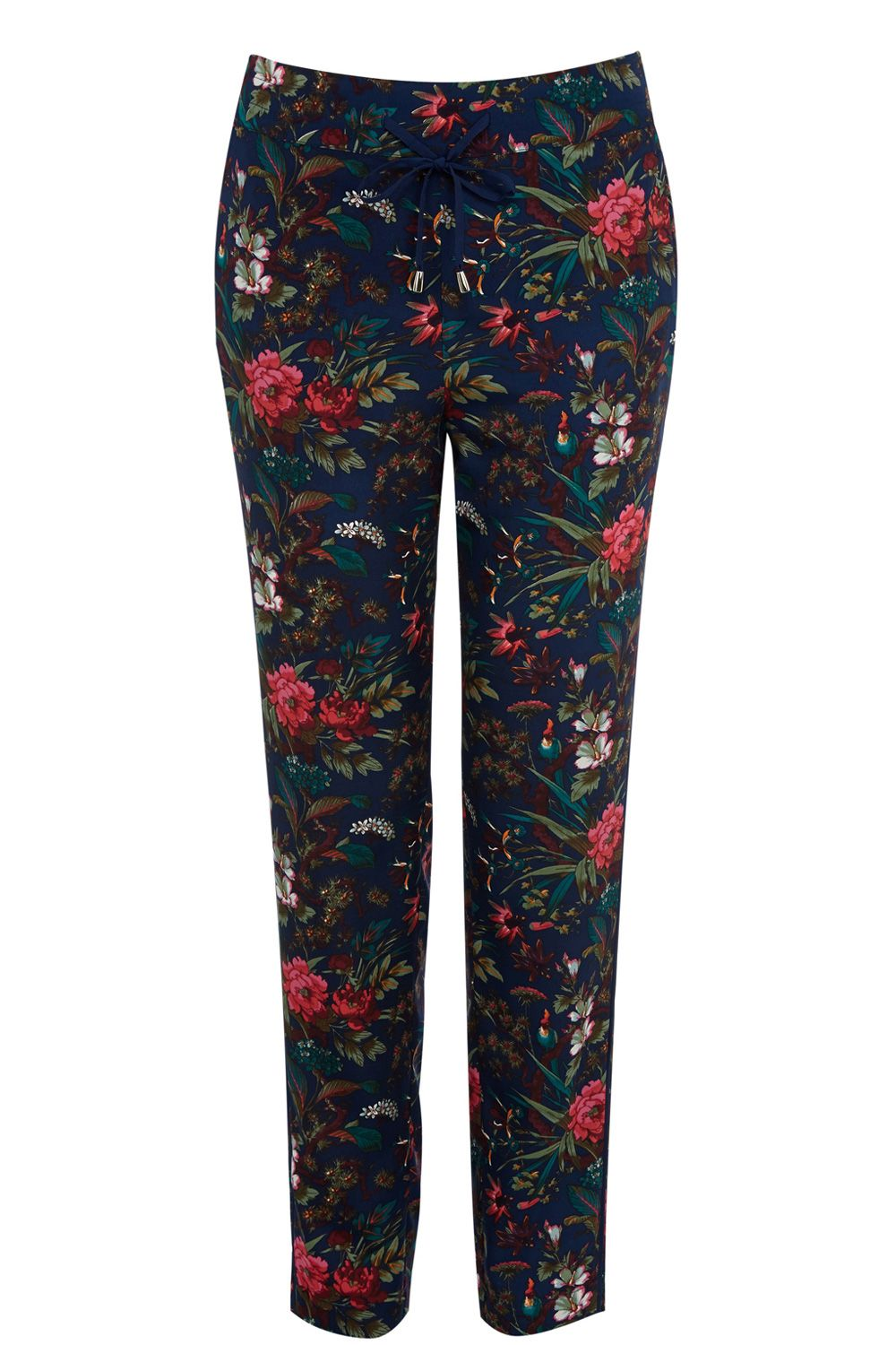 Tropical forest soft print trouser