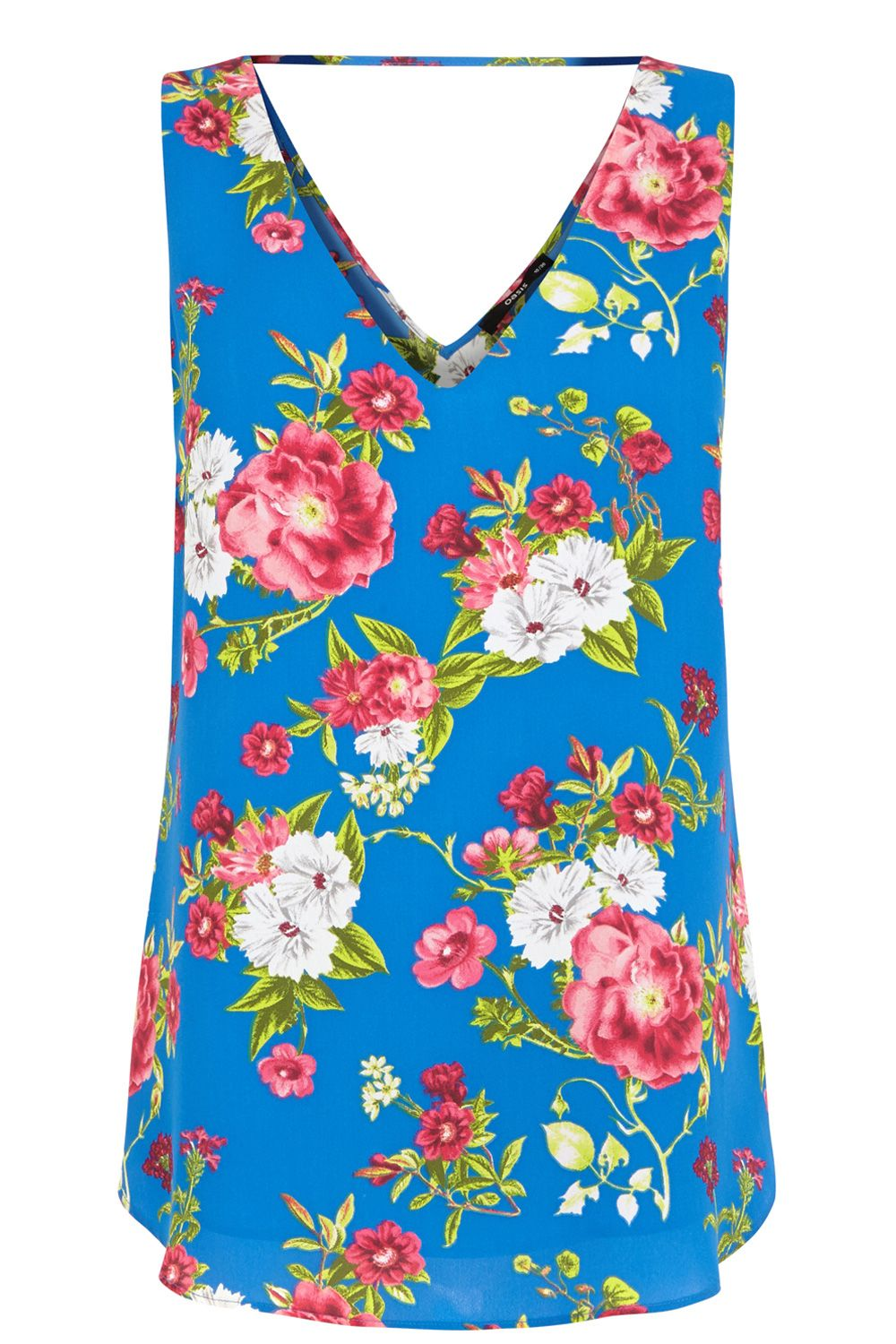 Rose print v front and back vest