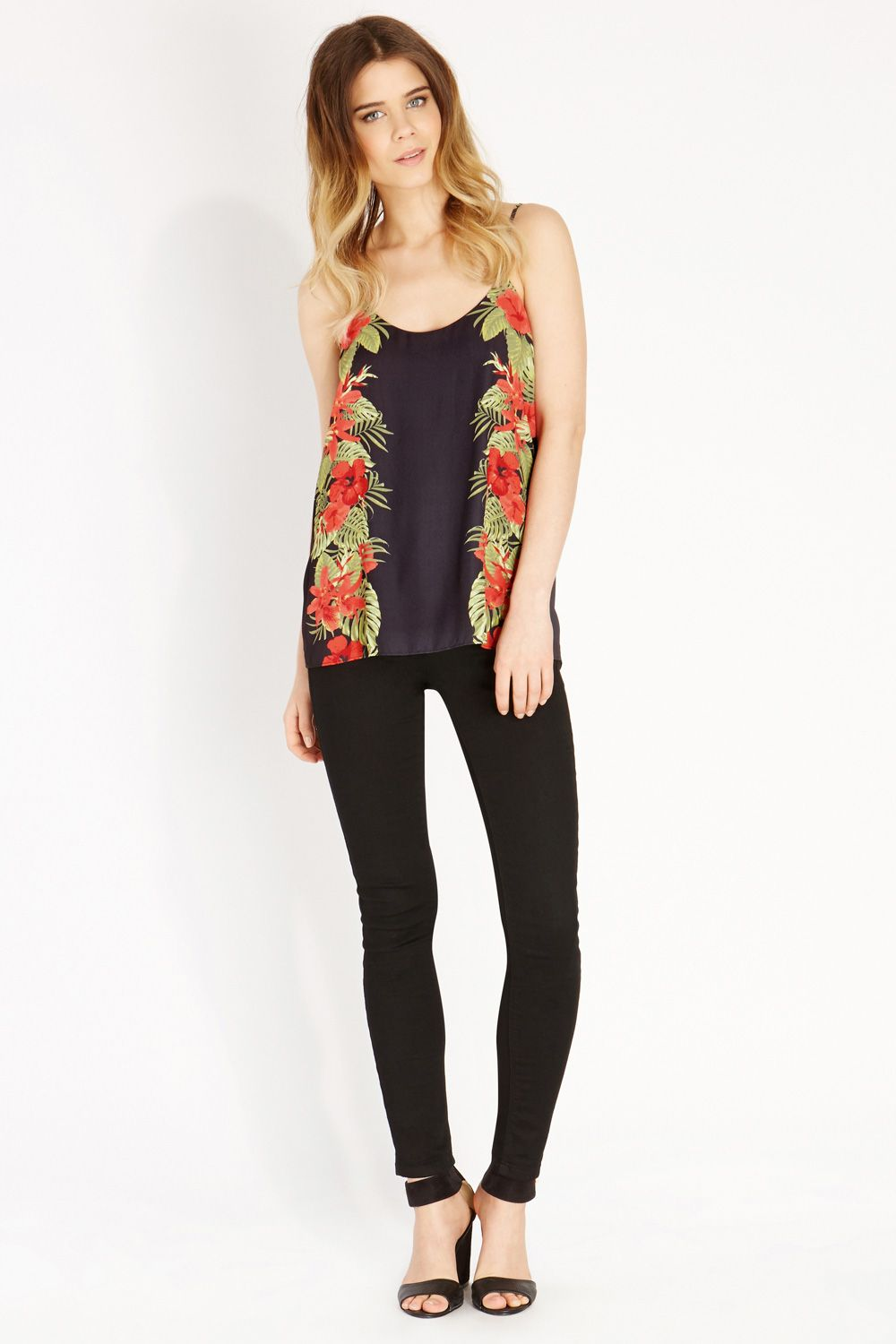 Palm safari placement camisole