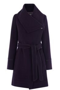 Stitch detail formal drape coat