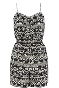 Aztec tribal playsuit