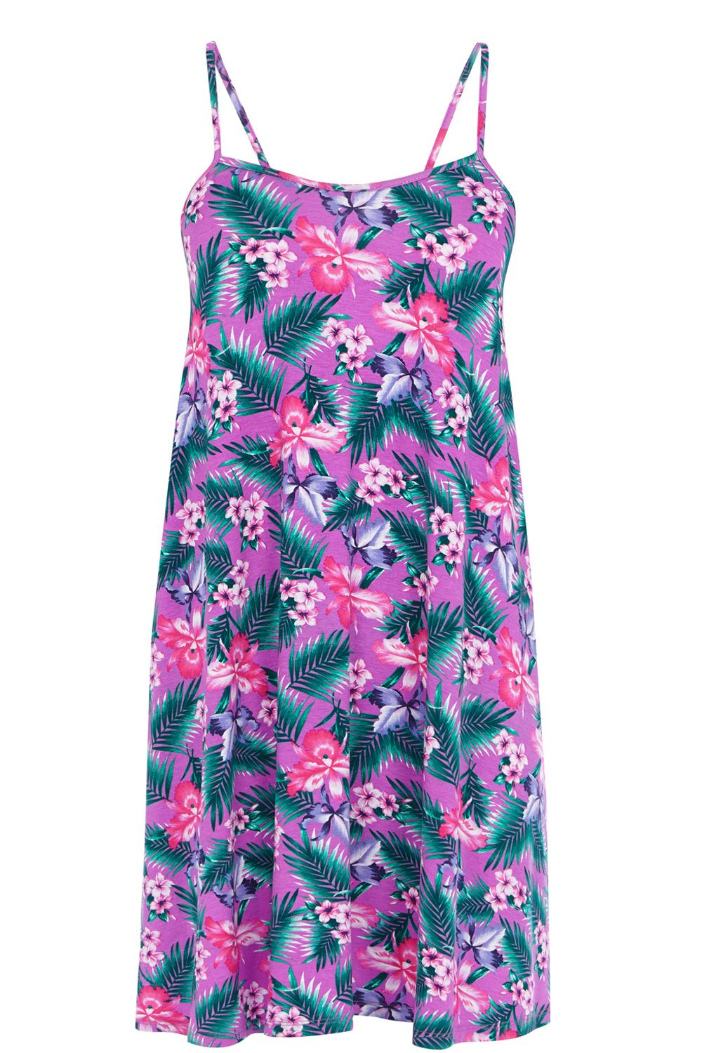 Fern print swing dress