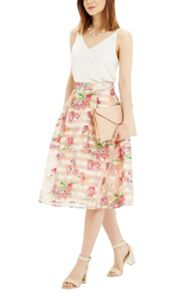 Oasis Floral Organza Midi Skirt