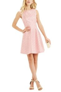 Oasis Daisy Jacquard Skater Dress