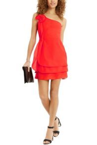 Oasis Ruffle One Shoulder Dress