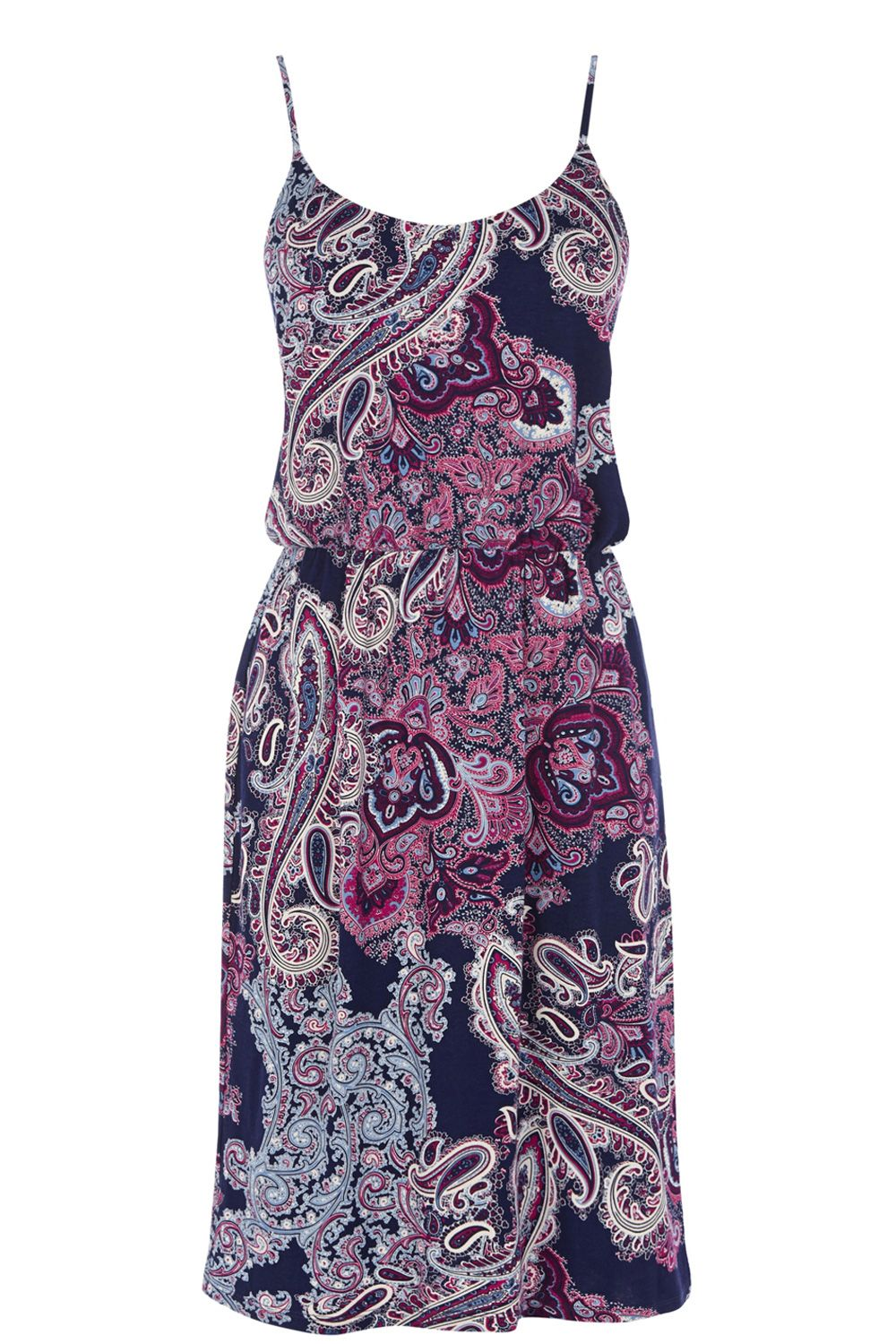 Paisley Print Camisole Dress
