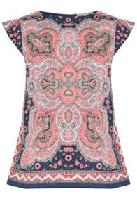 Oasis Paisley Placement Shell Top