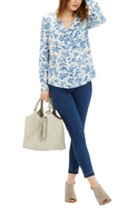Oasis Rosey Bird Viscose Shirt