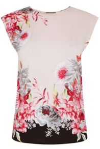 Oasis Evie Tropical Placement Tee