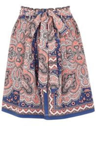 Oasis Paisley Paper Bag Skirt