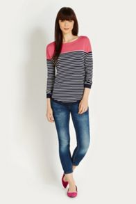 Heart patched relaxed jumper
