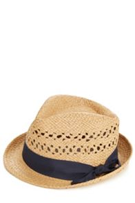 Oasis Navy Ribbon Trilby