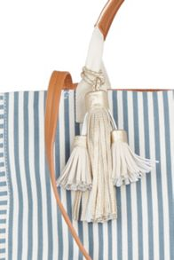 Oasis Canvas Stripe Shopper
