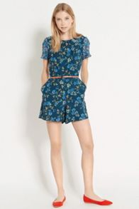 Patched floral playsuit