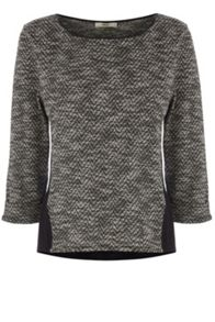 Tweed Insert Sweater