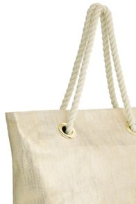 Oasis Gold Straw Shopper