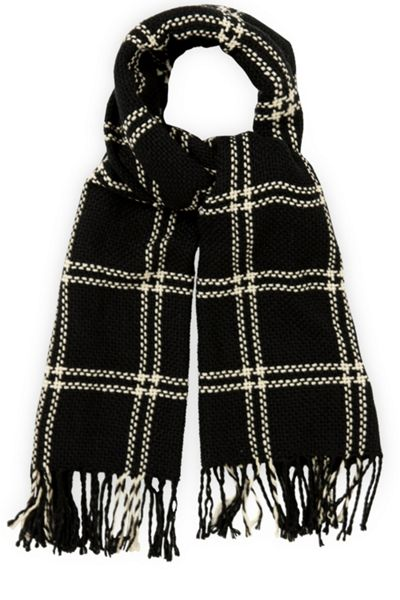 Oasis Stitched Grid Check Scarf