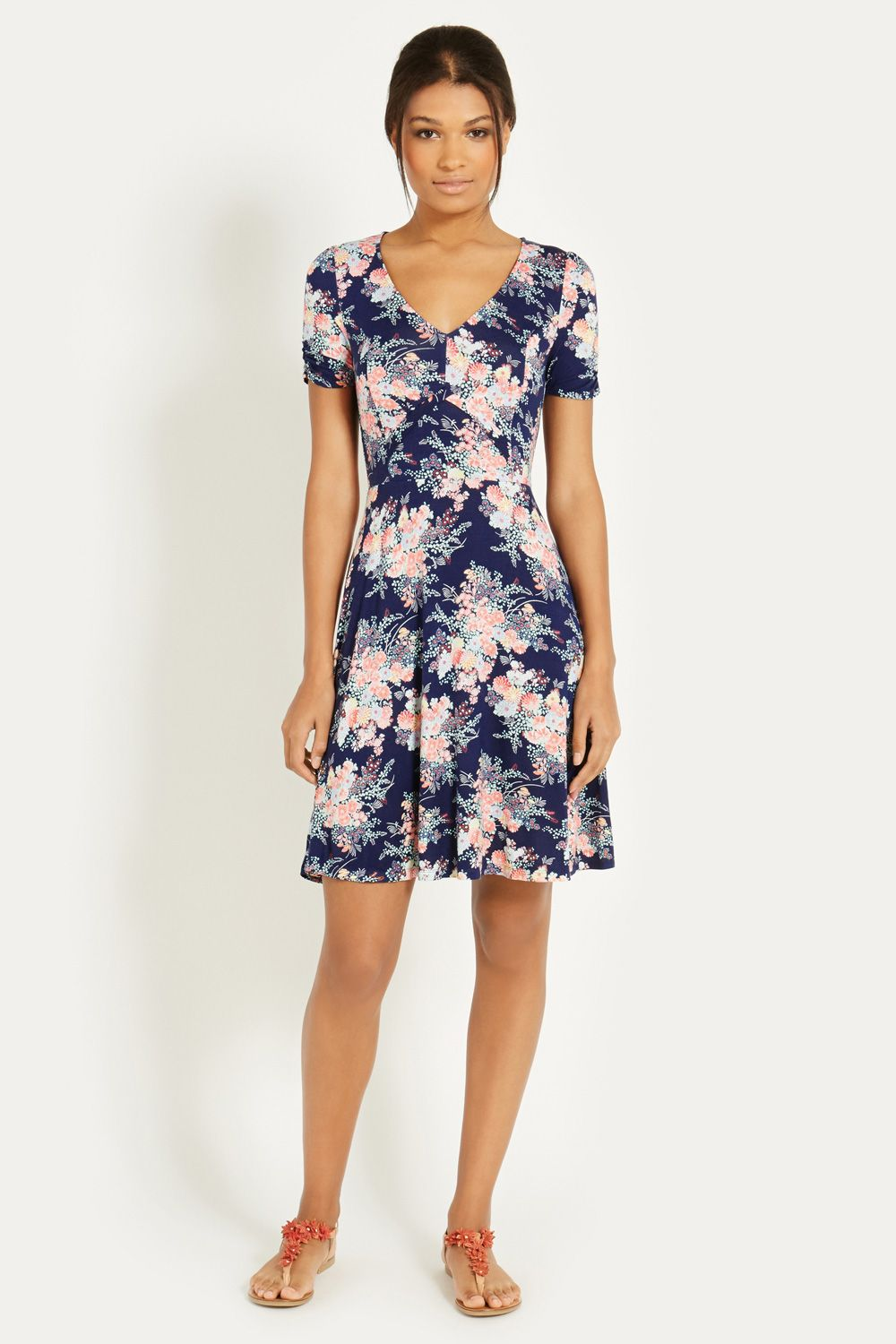Parasol print tea dress