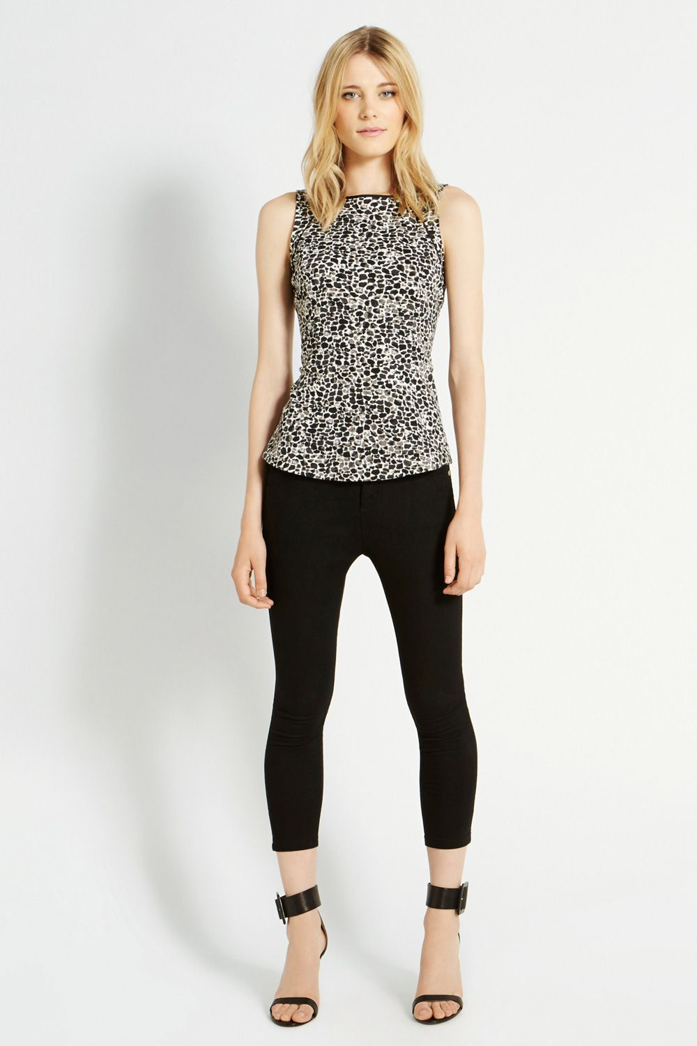 Animal Ponte Peplum Top
