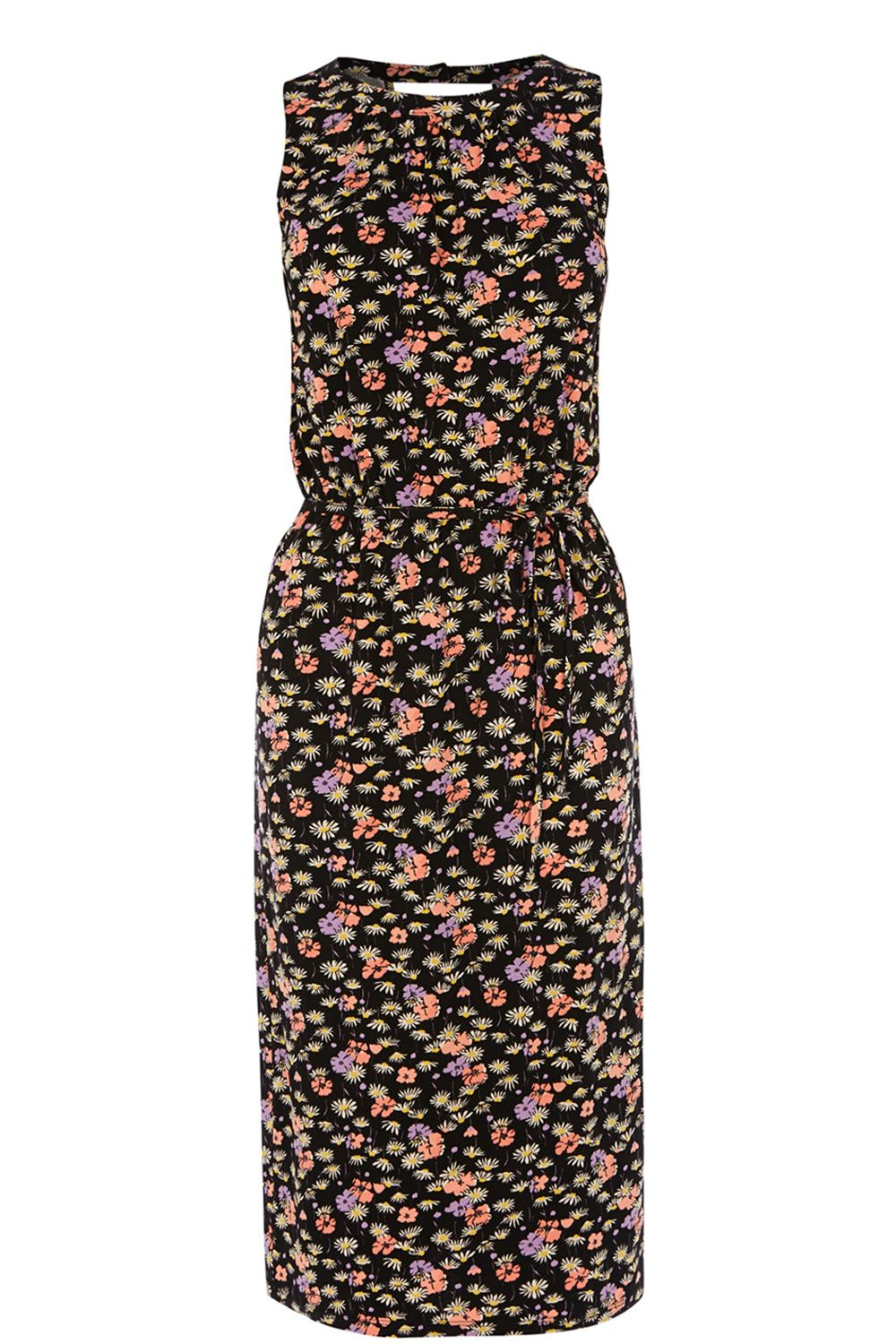 Ditsy Pop Print Midi Dress