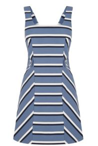 Oasis Stripe Pinafore Dress