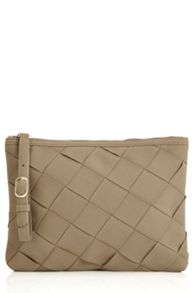 Oasis Big Weave Zip Top Clutch