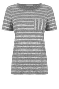 Oasis Metallic Stripe Tee