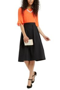 Oasis Fern Textured Midi Skirt
