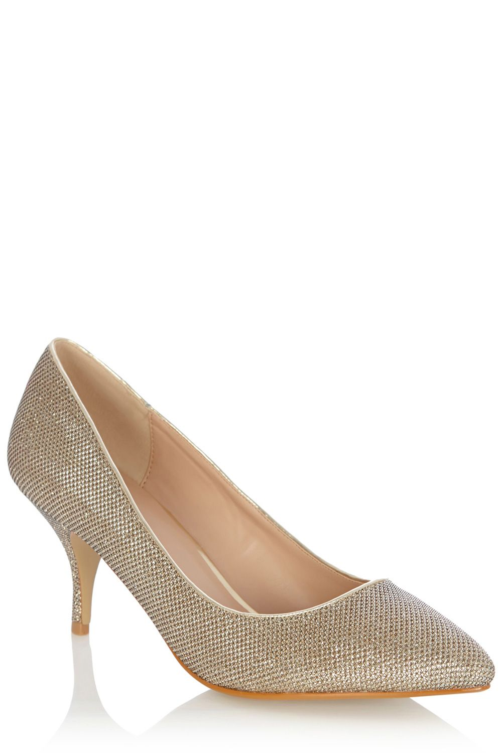 Cara sparkle fabric court shoes