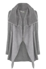 Shearling Drape Coat