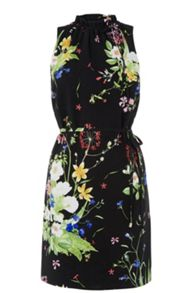 Oasis Chelsea Border High Neck Dress